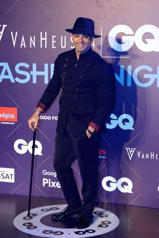 Actor Karan Singh Grover during Van Heusen + GQ Fashion Nights 2017 in Mumbai on Nov 11, 2017. - Karan Singh Grover