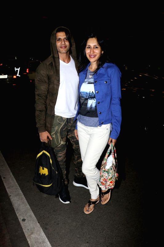 Karanvir Bohra and Teejay Sidhu seen at airport - Karanvir Bohra