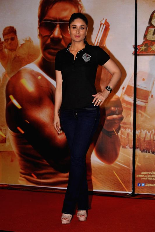 Actor Kareena Kapoor during the trailer launch of film Singham Returns in Mumbai on July 11, 2014. - Kareena Kapoor