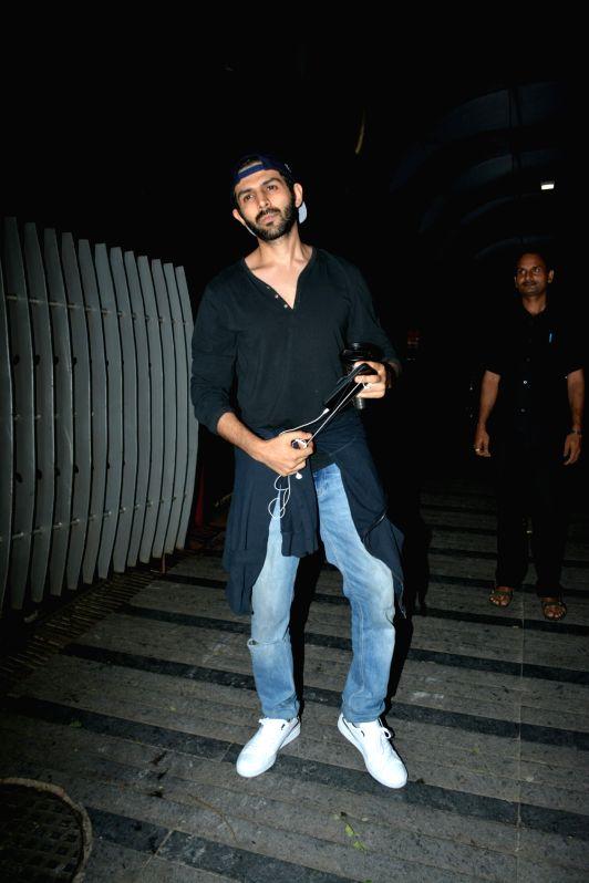 Actor Kartik Aaryan seen at Mumbai's Bandra on July 11, 2018. - Kartik Aaryan