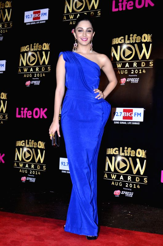 Actor Kiara Advani during the Big Life Ok Now Awards in Mumbai, on August 3, 2014. - Kiara Advani