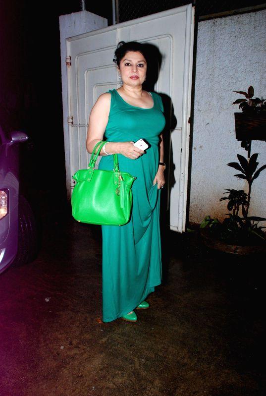 Actor Kiran Juneja during the screening of the film Entertainment in Mumbai on Aug 6, 2014. - Kiran Juneja