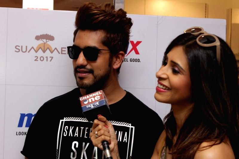 Actor Kishwer Merchant with her husband Suyyash Rai during the launch of MAX Summer Collection in Mumbai on April 13, 2017. - Kishwer Merchant and Suyyash Rai