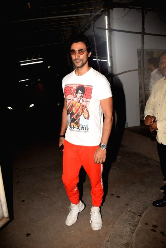 "Actor Kunal Kapoor arrives at the screening of the film ""Bhavesh Joshi Superhero"" in Mumbai on May 31, 2018. - Kunal Kapoor and Bhavesh Joshi Superhero"