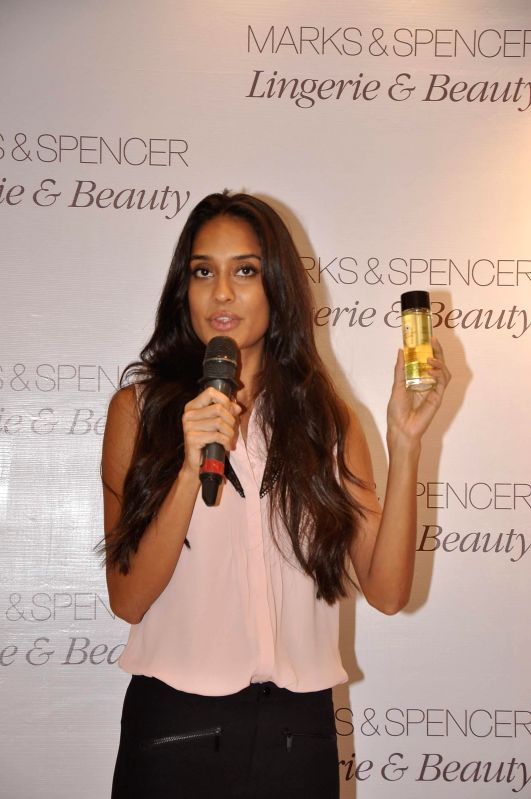 Actor Lisa Haydon during the launch of Marks & Spencer's first standalone lingerie & beauty store in Mumbai, on May 7, 2014.