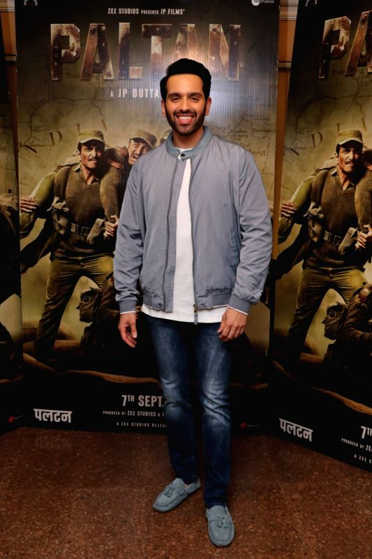 "Actor Luv Sinha during the promotion of his upcoming film ""Paltan"" in Mumbai on Aug 10, 2018. - Luv Sinha"