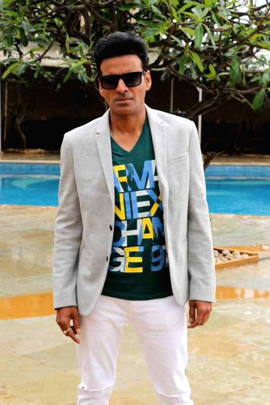 "Actor Manoj Bajpayee during the promotion of his upcoming film ""Satyameva Jayate"" in Mumbai on Aug 3, 2018. - Manoj Bajpayee"