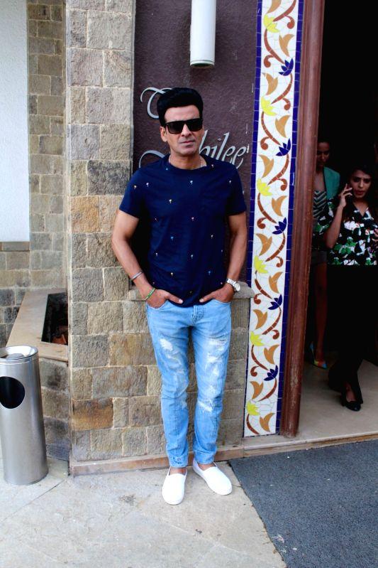 """Actor Manoj Bajpayee during the promotion of his upcoming film """"Satyameva Jayate"""" in Mumbai on Aug 6, 2018. - Manoj Bajpayee"""