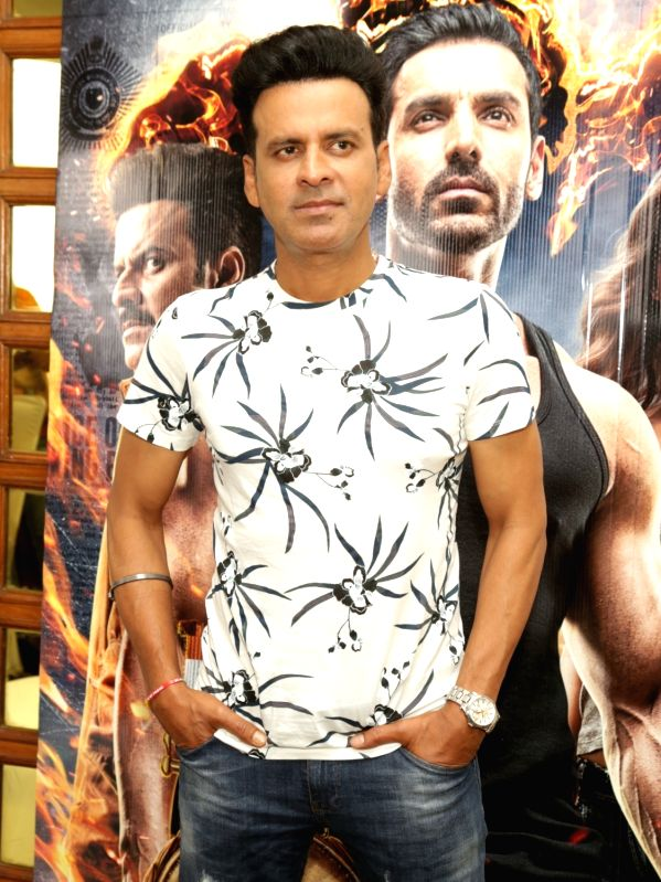 "Actor Manoj Bajpayee during the promotion of his upcoming film ""Satyameva Jayate"" in New Delhi on Aug 9, 2018. - Manoj Bajpayee"