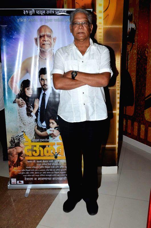 Actor Mohan Joshi during the trailer launch of Marathi film Deool Banda in Mumbai, on July 9, 2015. - Mohan Joshi