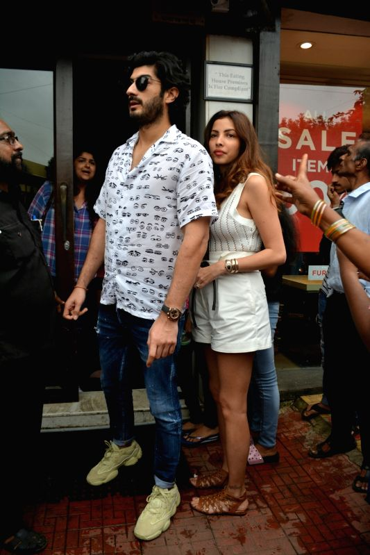 Actor Mohit Marwah along with his wife Antara Motiwala seen at Mumbai's Bandra on July 22, 2018. - Mohit Marwah