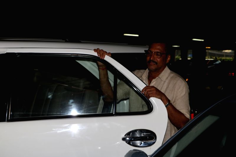 Actor Nana Patekar spotted at airport, in Mumbai, on May 25, 2017. - Nana Patekar