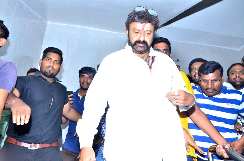Actor Nandamuri Balakrishna during a programme in Hyderabad. - Nandamuri Balakrishna