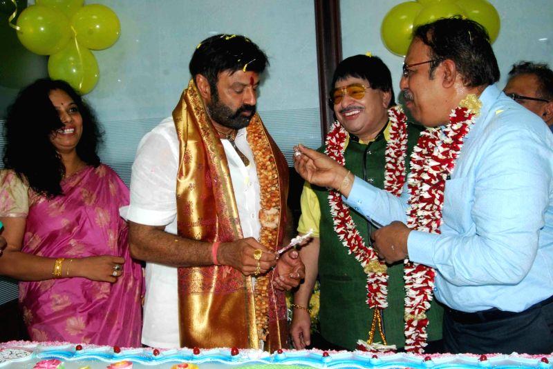 Actor Nandamuri Balakrishna during the inauguration of Andhra Pradesh Film Development Corporation (APFDC) in Vijayawada, Karnataka on Oct 1, 2017. - Nandamuri Balakrishna