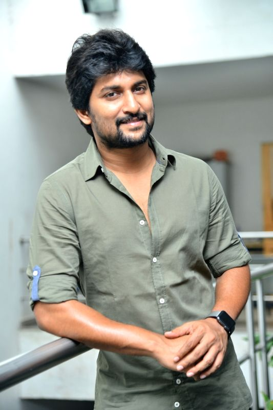 Actor Nani during a interview in Hyderabad. - Nani