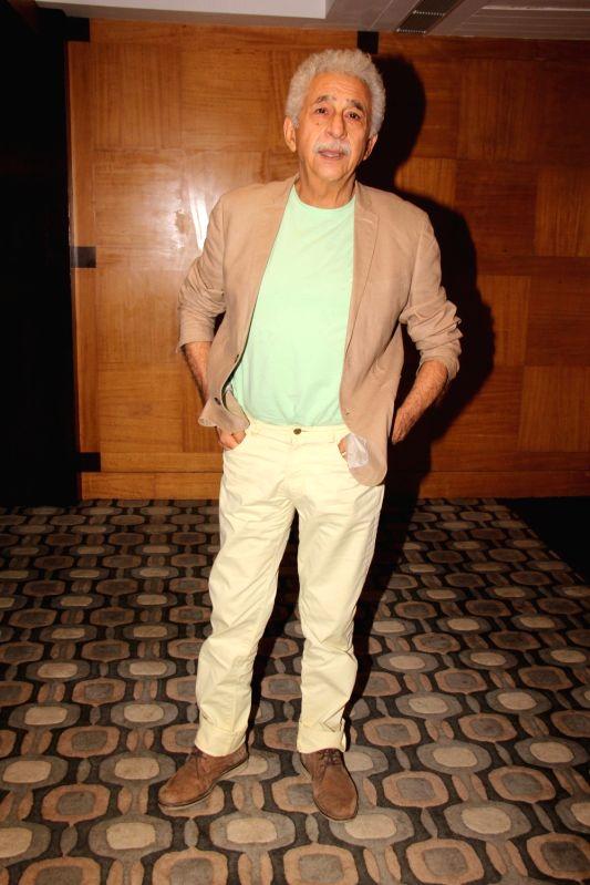 "Actor Naseeruddin Shah at the promotion of their upcoming film ""Aiyaary"" in Mumbai on Feb 1, 2018. - Naseeruddin Shah"