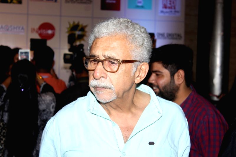 Actor Naseeruddin Shah during the Disney India`s Beauty And The Beast musical event on May 15, 2016. - Naseeruddin Shah