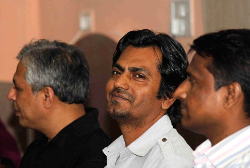 Actor Nawazuddin Siddiqui during a interactive session with students organized by DCJ Film Club and Department of Communication and Journalism, University of Mumbai, to promote his film Mountain Man .