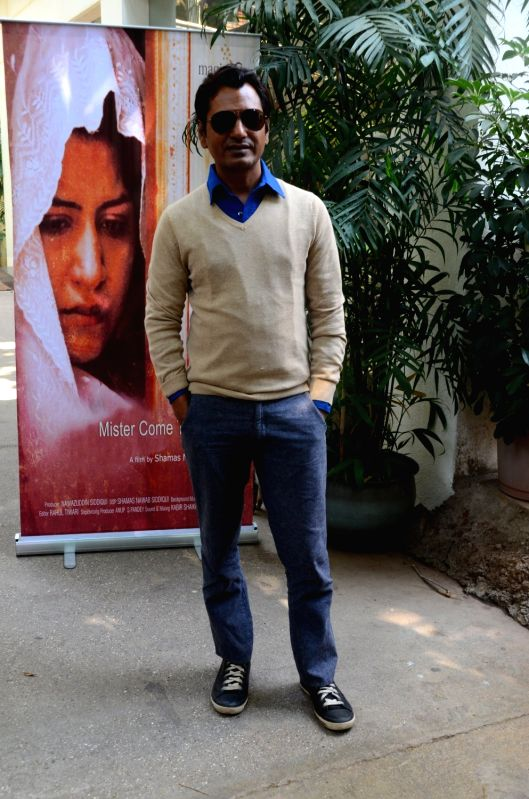 Actor Nawazuddin Siddiqui during the screening of Miya Kal Aana in Mumbai on April 10, 2017. - Nawazuddin Siddiqui