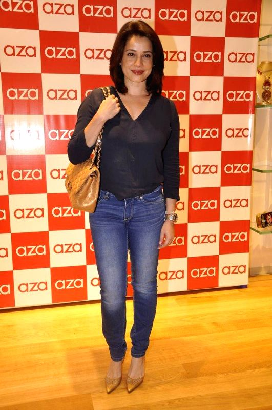Actor Neelam during the launch of Aza store in Mumbai, on Aug 28, 2014. - Neelam