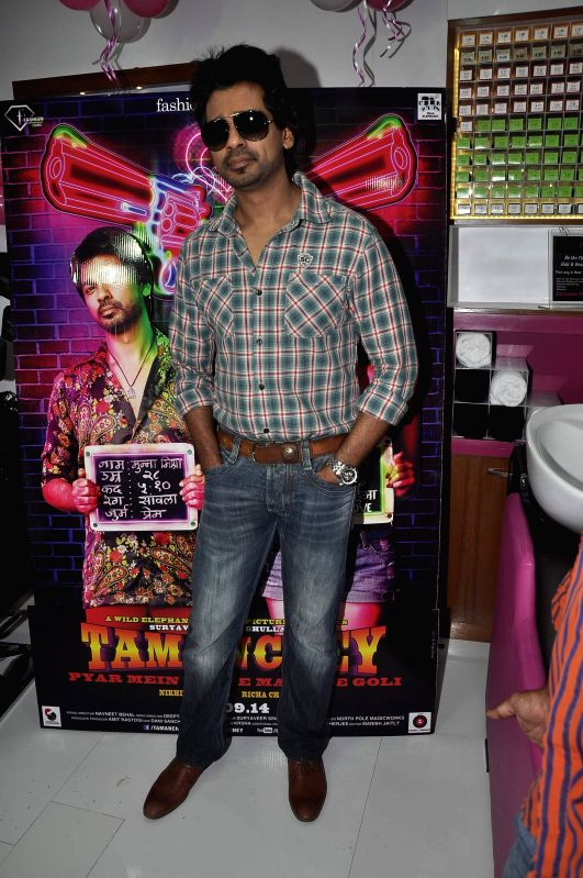 Actor Nikhil Dwivedi during the promotion of film Tamanchey in Mumbai on Aug 15, 2014. - Nikhil Dwivedi