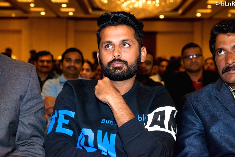 Actor Nithiin during the movie auido launch of film Chicago on Hyderabad, June 12, 2017. - Nithiin