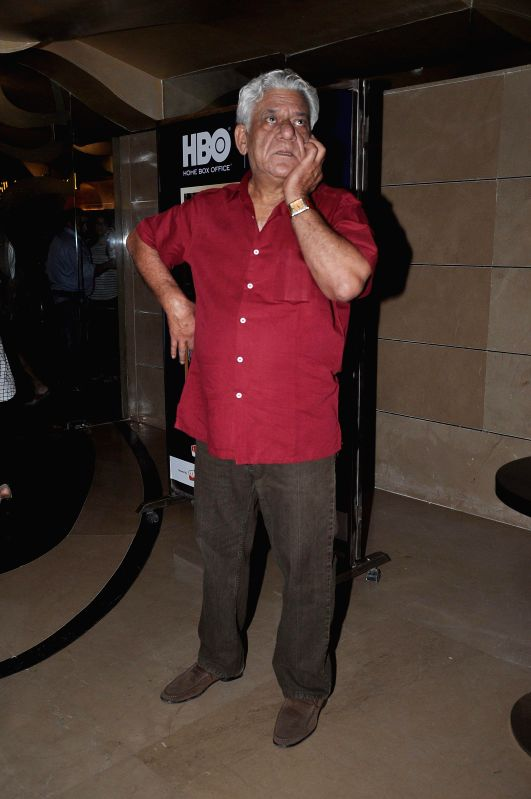 Actor Om Puri during the screening of Hollywood film The Hundred-Foot Journey in Mumbai on August 7, 2014.