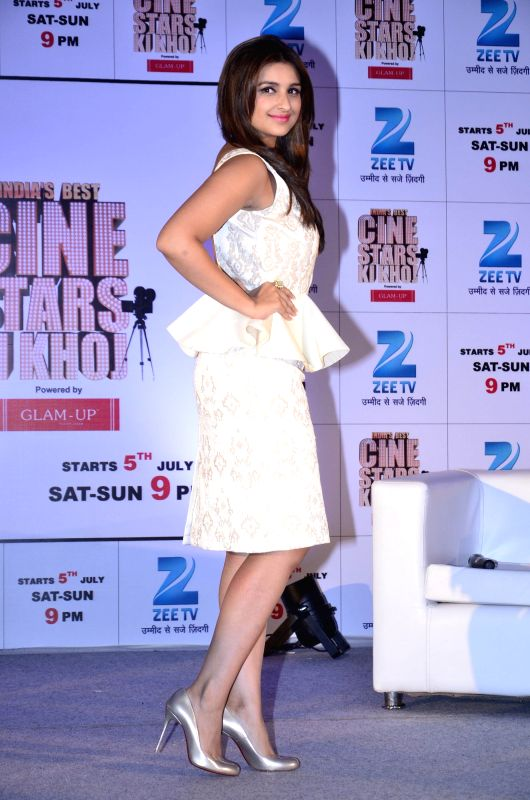 Actor Parineeti Chopra during India's Best Cinestars Ki Khoj hosted by Zee TV in Mumbai on June 26, 2014. - Parineeti Chopra