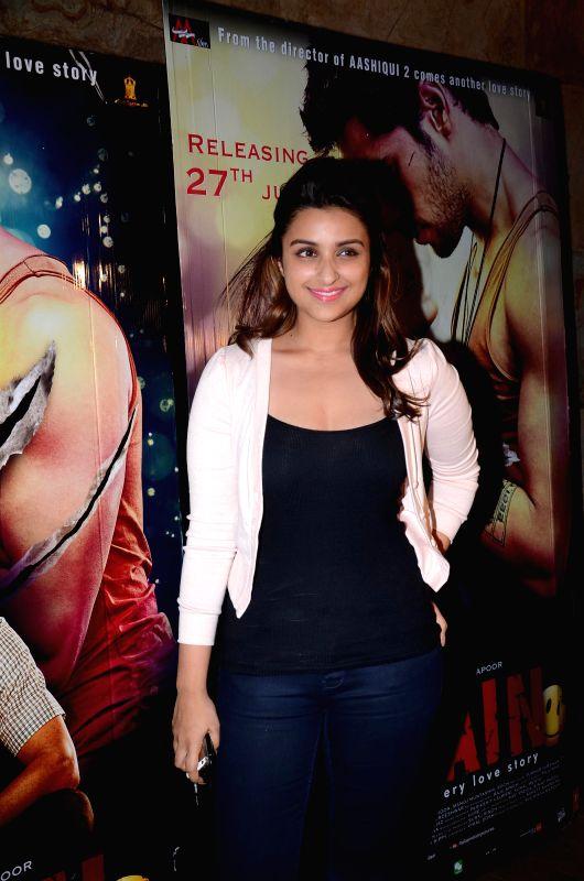 Actor Parineeti Chopra during the special screening of upcoming movie Ek Villain in Mumbai on June 25th, 2014. - Parineeti Chopra