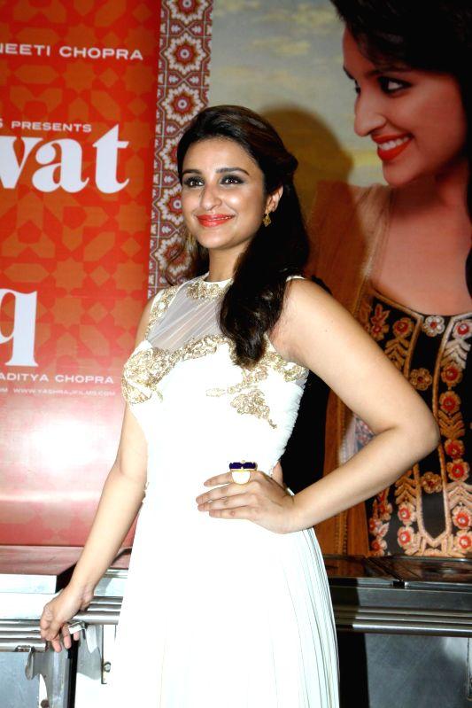 Actor Parineeti Chopra during the trailer launch of upcoming film Daawat E Ishq at YRF Studios in Mumbai on July 7, 2014. - Parineeti Chopra