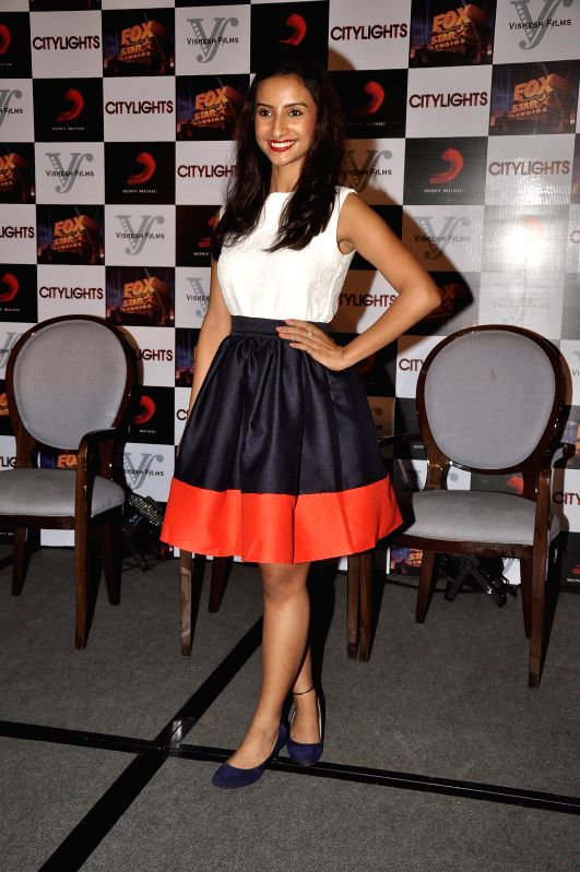 Actor Patralekha during the footage screening of film Citylights in Mumbai, on May 5, 2014. - Patralekha