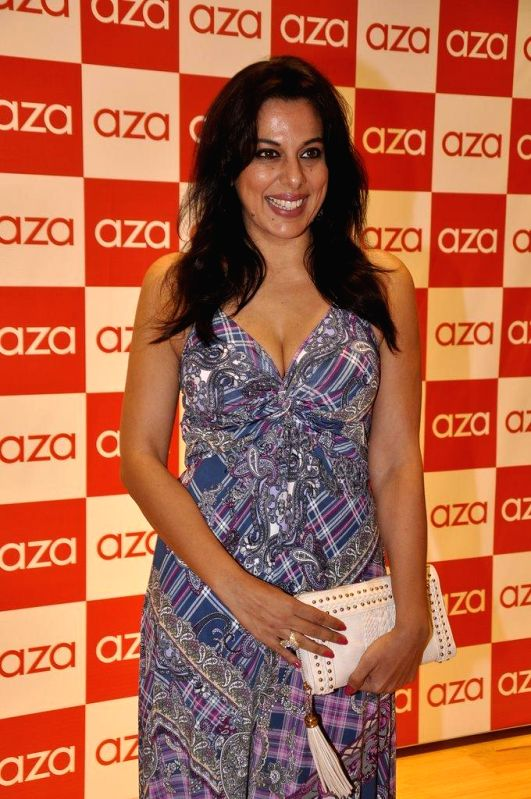 Actor Pooja Bedi during the launch of Aza store in Mumbai, on Aug 28, 2014. - Pooja Bedi