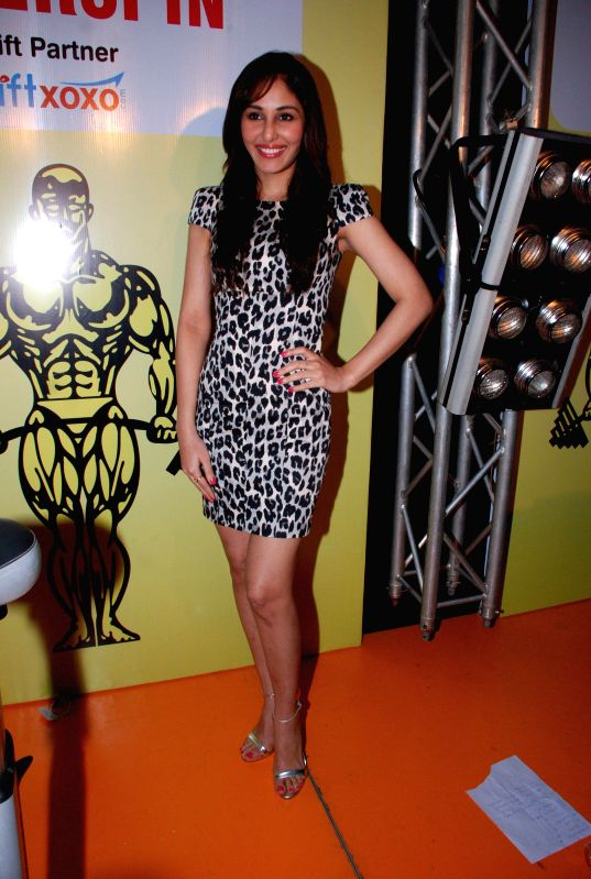 Actor Pooja Chopra during Gold`s Gym superspin event in Mumbai, on Aug. 23, 2014.