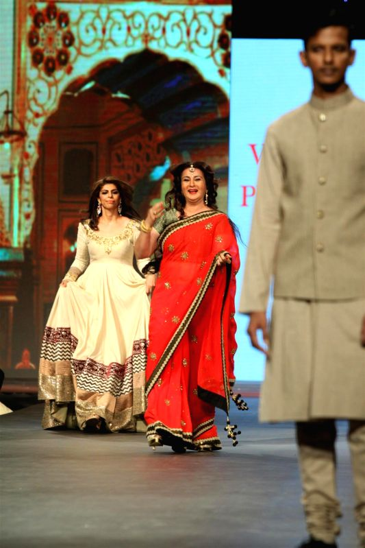 Actor Poonam Dhillon during the `Caring with Style` 9th Annual Fashion Show by Fevicol in support of CPAA (Cancer Patient Aid Association) at NSCI in Worli, Mumbai on Sunday, May 10, 2014. - Poonam Dhillon