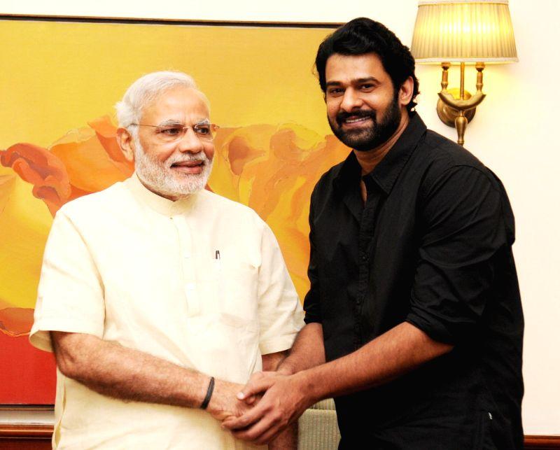 Actor Prabhas, calls on the Prime Minister Narendra Modi, in New Delhi (File Photo)