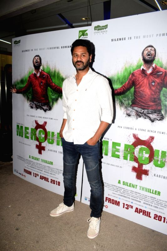 "Actor Prabhudheva at the special screening of his film ""Mercury"" in Mumbai on April 12, 2018. - Prabhudheva"