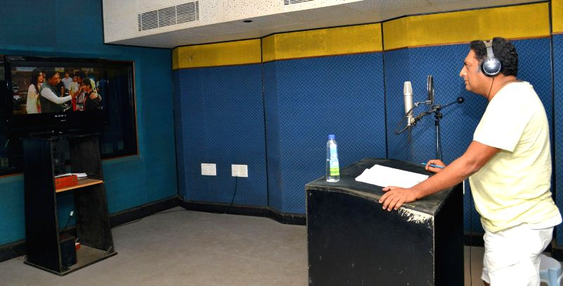 Actor Prakash Raj during a dubbing session for upcoming film 'Heropanti' (remake of telugu film Parugu) in Hyderabad. - Prakash Raj