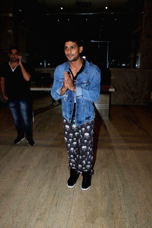 """Actor Prateik Babbar during the screening of upcoming film """"Mulk"""", in Mumbai on July 28, 2018. - Prateik Babbar"""