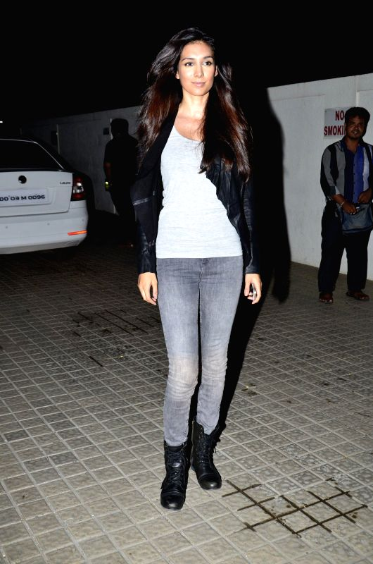 Actor Preeti Desai during the screening of the film Katiyabaaz in Mumbai, on Aug. 20, 2014. - Preeti Desai