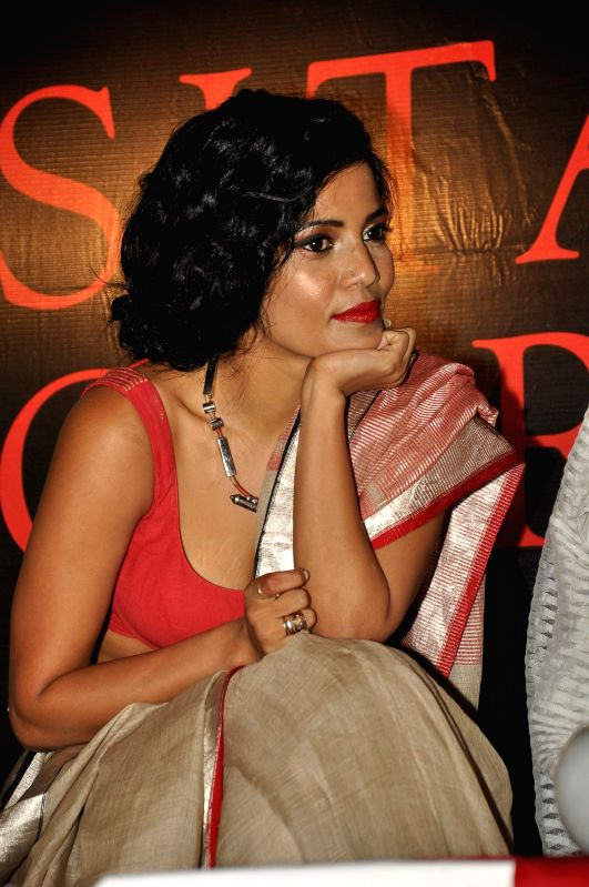 :Actor Priyanka Bose during the book release of erotica writer Sreemoyee Piu Kundu's book Sita's Curse, in Mumbai on 10 June, 2014. (Photo: IANS).