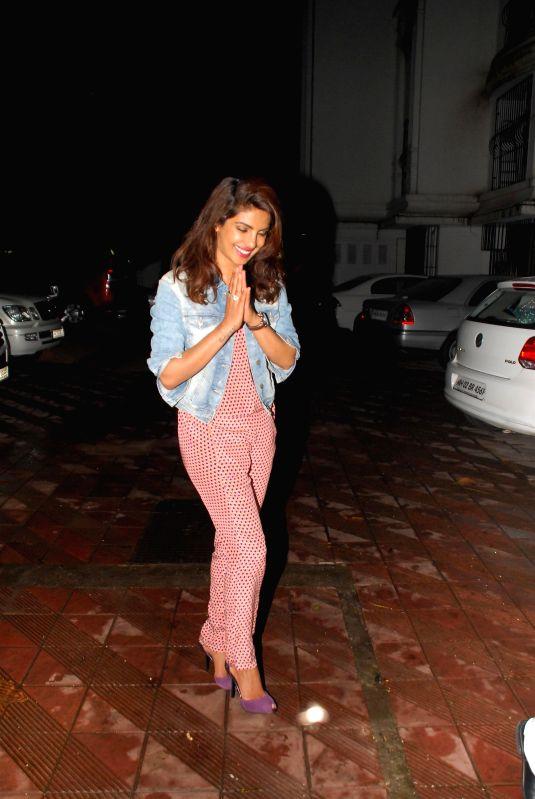 Actor Priyanka Chopra during her birthday celebration in Mumbai on July 25, 2014. - Priyanka Chopra