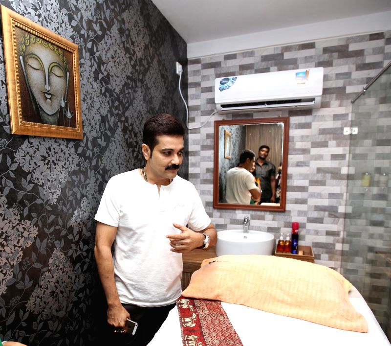 Actor Prosenjit Chatterjee during inauguration of a spa in Kolkata on Aug 22, 2014.