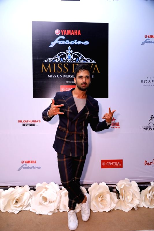 Actor Pulkit Samrat at the Miss Diva sub contest in New Delhi on Aug 9, 2018. - Pulkit Samrat