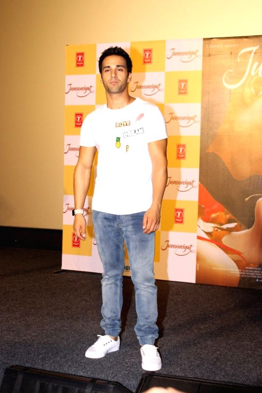 Actor Pulkit Samrat during the trailer showcase and song launch of film Junooniyat, in Mumbai, on May 24, 2016. - Pulkit Samrat