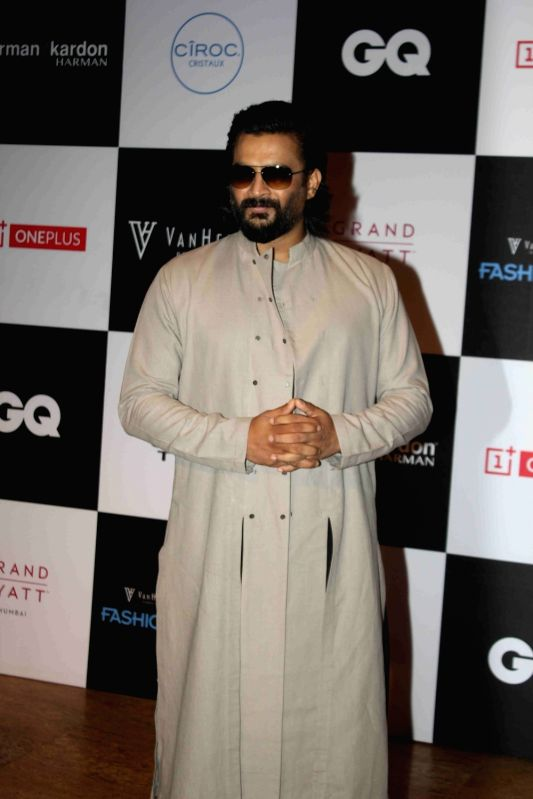 Actor R. Madhavan during the Van Heusen GQ Fashion Nights 2015 Day 2 in Mumbai on Dec 2, 2015. - R. Madhavan