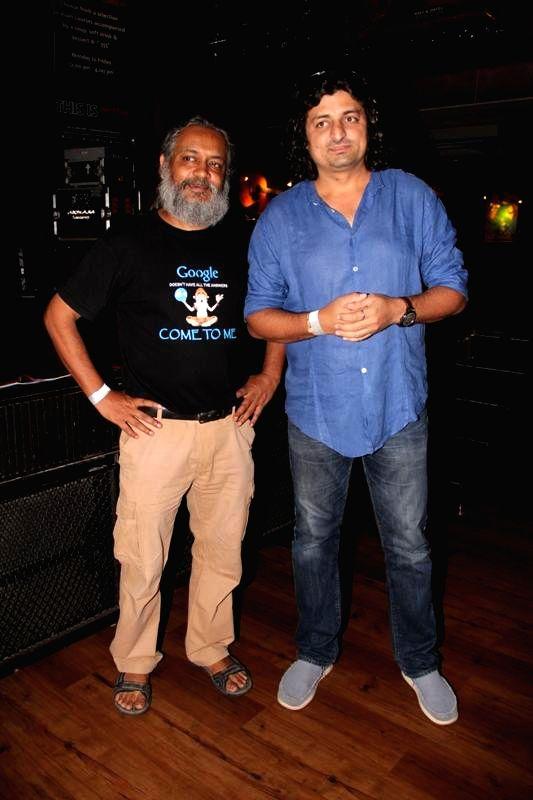 Actor Rahul Ram and ocean drummer Amit Kilam during the music launch of film Katiyabaaz in Mumbai on Aug 11, 2014. - Rahul Ram