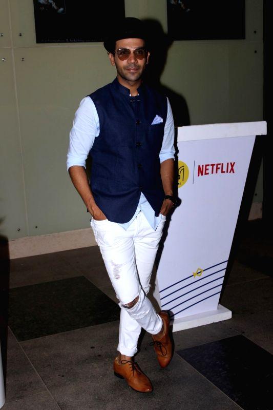 Actor Raj Kumar Rao spotted at Phonix Pvr, in Mumbai, on May 25, 2017. - Raj Kumar Rao