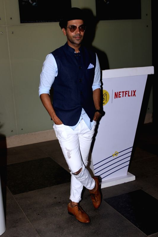 Actor Raj Kumar Yadav potted at PVR cinema in Mumbai on May 24, 2017. - Raj Kumar Yadav