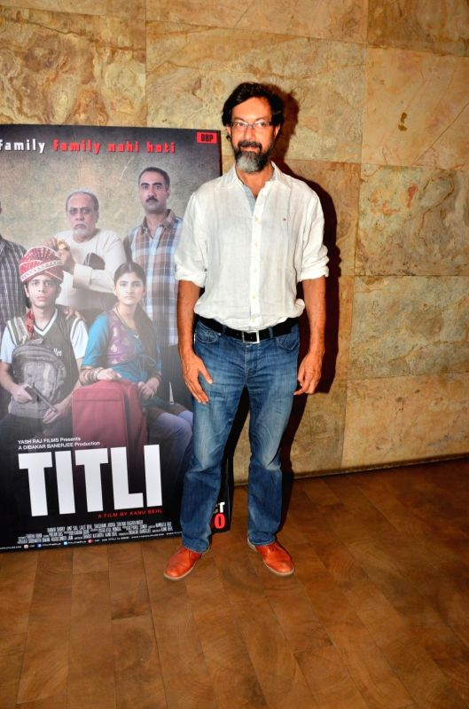 Actor Rajat Kapoor during the screening of film Titly in Mumbai on Oct 29, 2015. - Rajat Kapoor