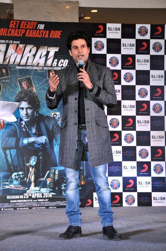 Actor Rajeev Khandelwal during the music launch of film Samrat & Co in Mumbai on April 11, 2014. - Rajeev Khandelwal